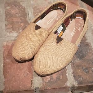 TOMS Burlap Classic Slip-on Shoes SZ 7.5